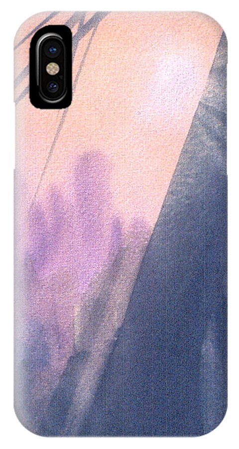 Landscape IPhone X Case featuring the painting La Morning by Christina Rahm Galanis