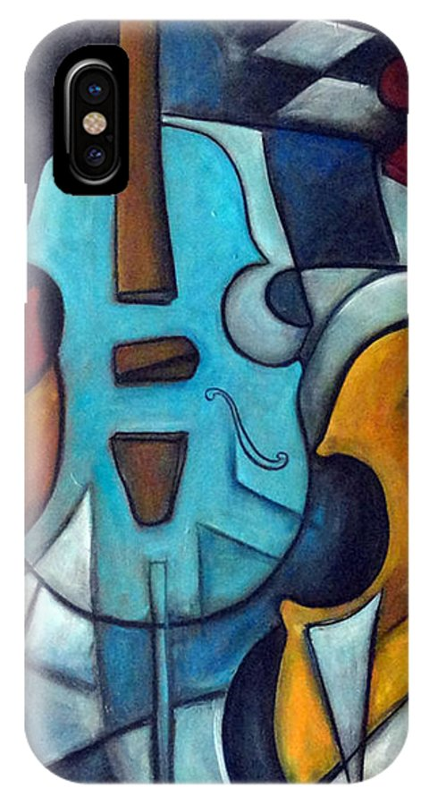 Music IPhone Case featuring the painting La Musique 2 by Valerie Vescovi