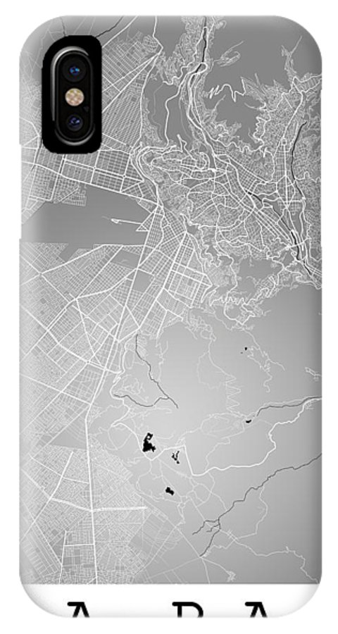 Road Map IPhone X Case featuring the digital art La Paz Street Map - La Paz Bolivia Road Map Art On Colored Back by Jurq Studio