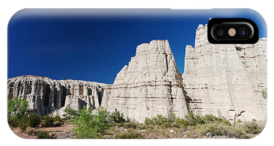Plaza Blanca IPhone X Case featuring the photograph La Plaza Blanca - Panorama by Julie VanDore