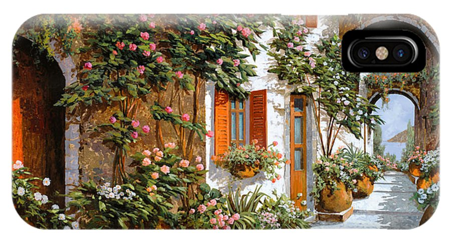 Arch IPhone X Case featuring the painting La Strada Al Sole by Guido Borelli