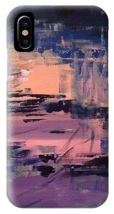 Cities IPhone X Case featuring the painting La Traversee De L Atlantique by Danielle Landry