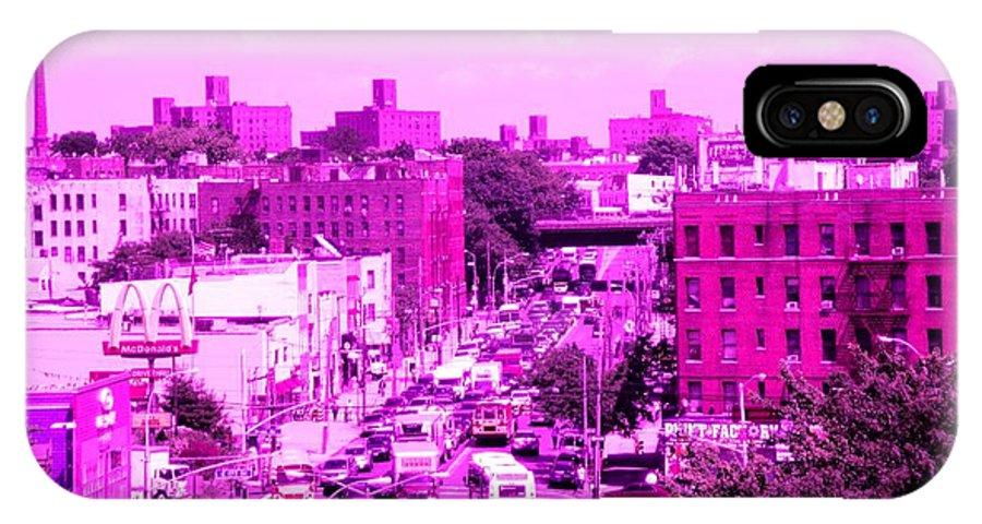 La Culture Critique IPhone X Case featuring the photograph La Vie En Rose Le Bronx by La Culture Critique