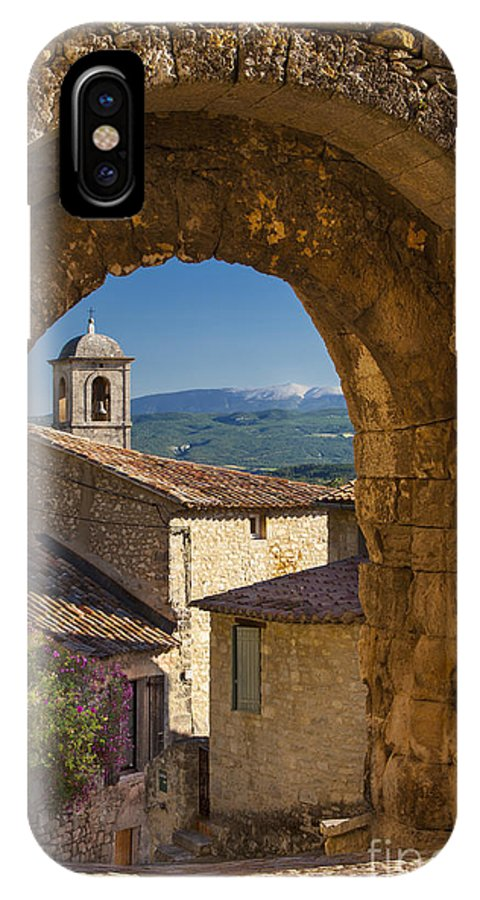 Arch IPhone X Case featuring the photograph Lacoste Gate by Brian Jannsen