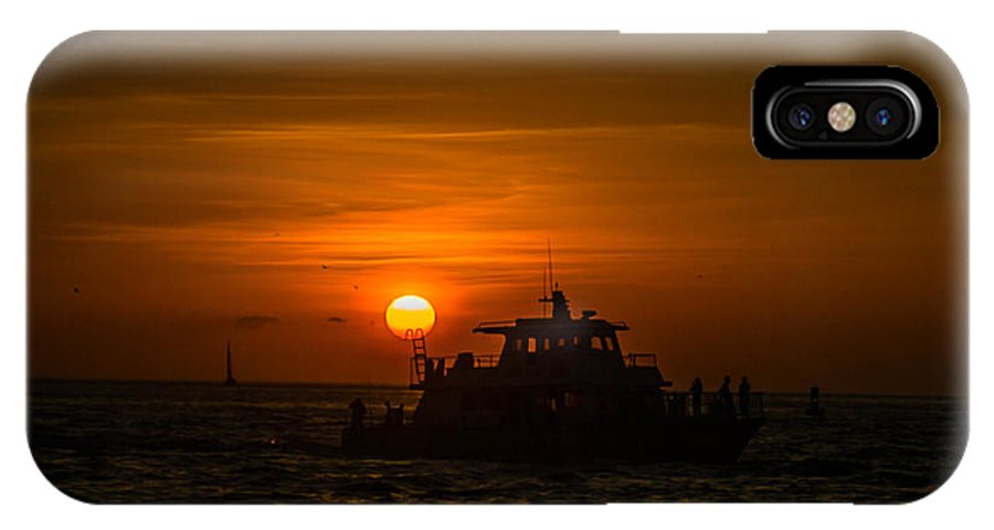 Sunset IPhone X Case featuring the photograph Ladder To The Sun by George Kenhan