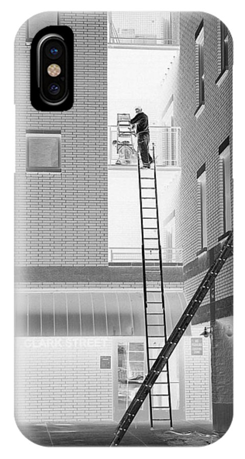 Ladders IPhone X Case featuring the photograph Laddering by David Bearden