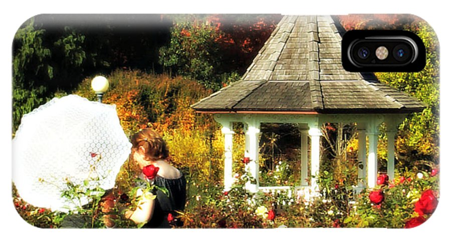 Ladies In The Garden IPhone X Case featuring the photograph Ladies In Rose Garden by Mindy Bench