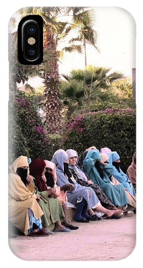 Morocco IPhone X Case featuring the photograph Ladies In Waiting by Teresa Ruiz