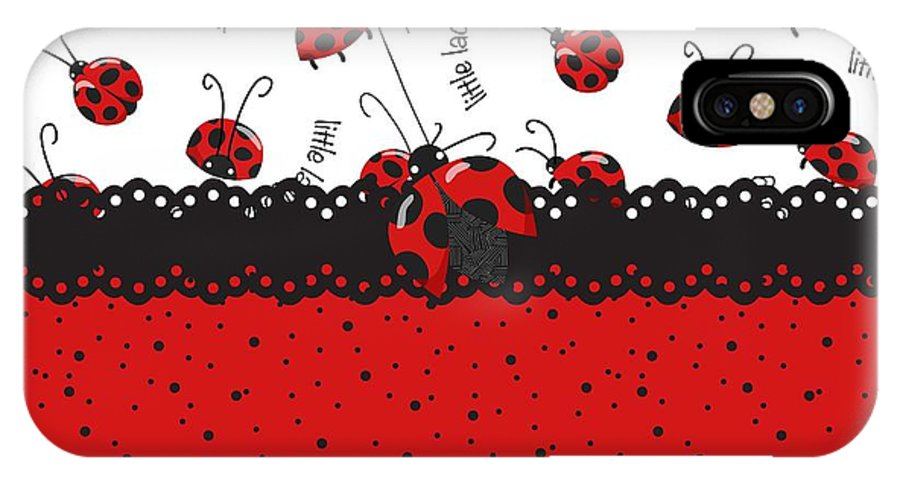 Ladybugs IPhone X Case featuring the digital art Ladybugs Occasion by Debra Miller