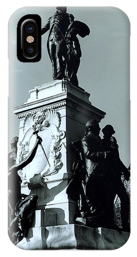 Statue IPhone X Case featuring the photograph Lafayette by Joyce Muema