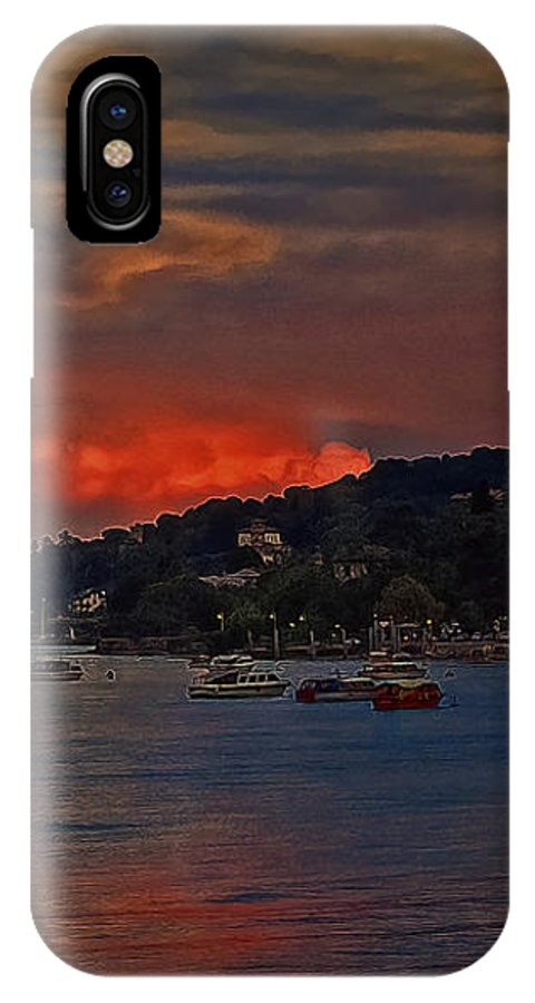 Landscape IPhone X Case featuring the photograph Lago Maggiore by Hanny Heim