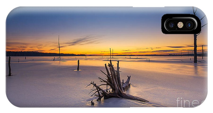 Frost Bite IPhone X Case featuring the photograph Laid To Rest by Michael Ver Sprill