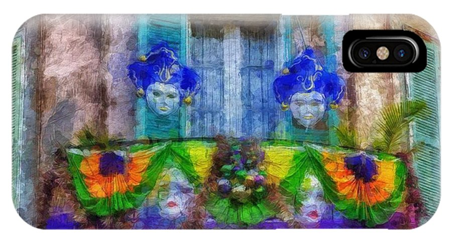 New Orleans IPhone X Case featuring the painting Laissez Le Bon Temps Rouler by Sandy MacGowan