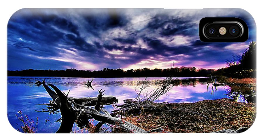 Sunset IPhone X Case featuring the photograph Lake Barnegat by Mark Miller
