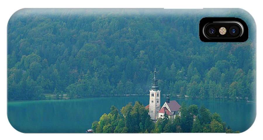 Island IPhone X Case featuring the photograph Lake Bled Island by Douglas J Fisher