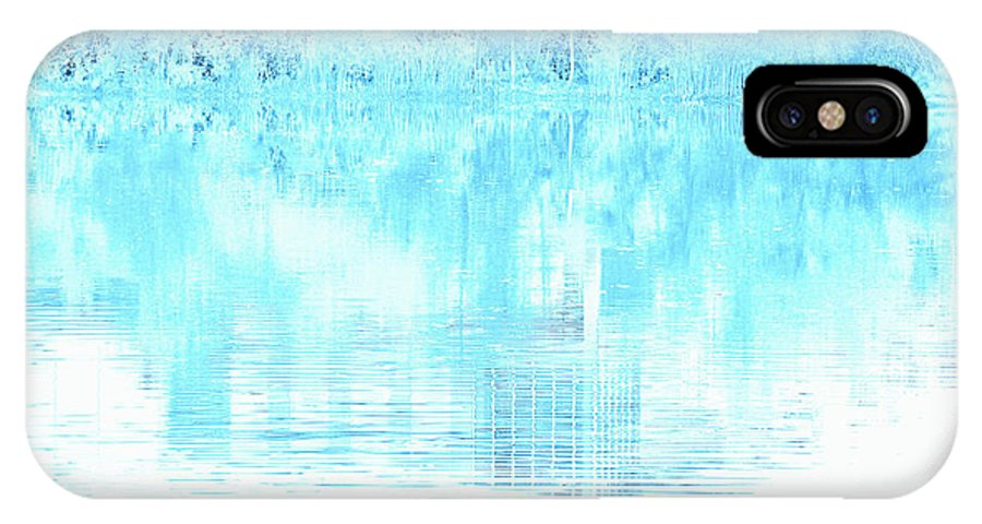 Art IPhone X Case featuring the photograph Lake Blue by Joan Han