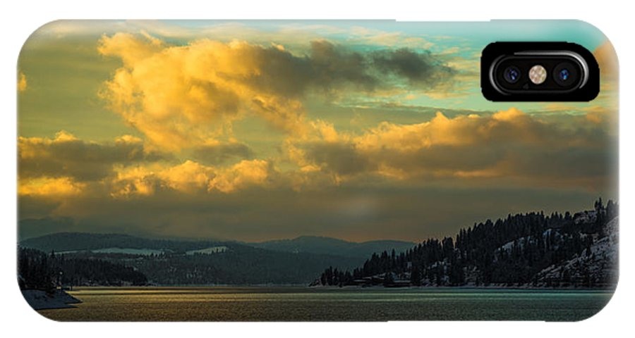 Idaho IPhone X Case featuring the photograph Lake Coeur D'alene by Dr Gary Guest