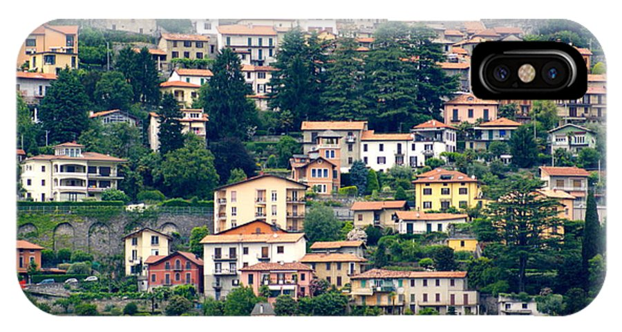 IPhone X Case featuring the photograph Lake Como Houses by Elizabeth-Anne King