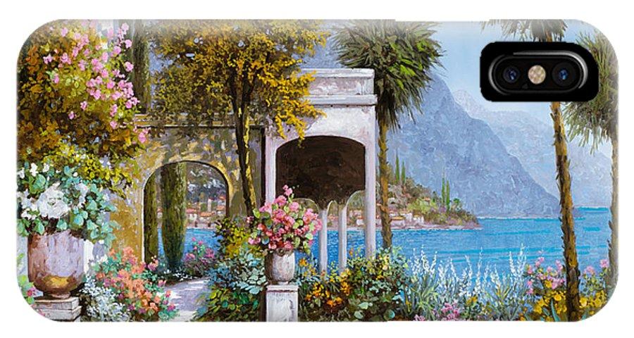 Lake IPhone X Case featuring the painting Lake Como-la Passeggiata Al Lago by Guido Borelli