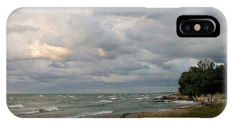 Nature IPhone X Case featuring the photograph Lake Erie Shore Line II by Barbara Keagler