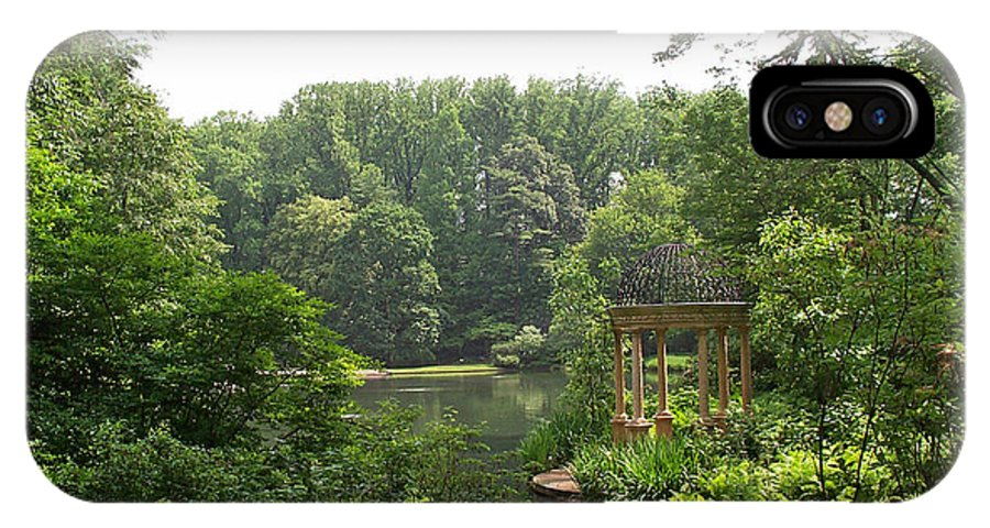 Lake IPhone X Case featuring the photograph Lake Gazebo by Barbara McDevitt