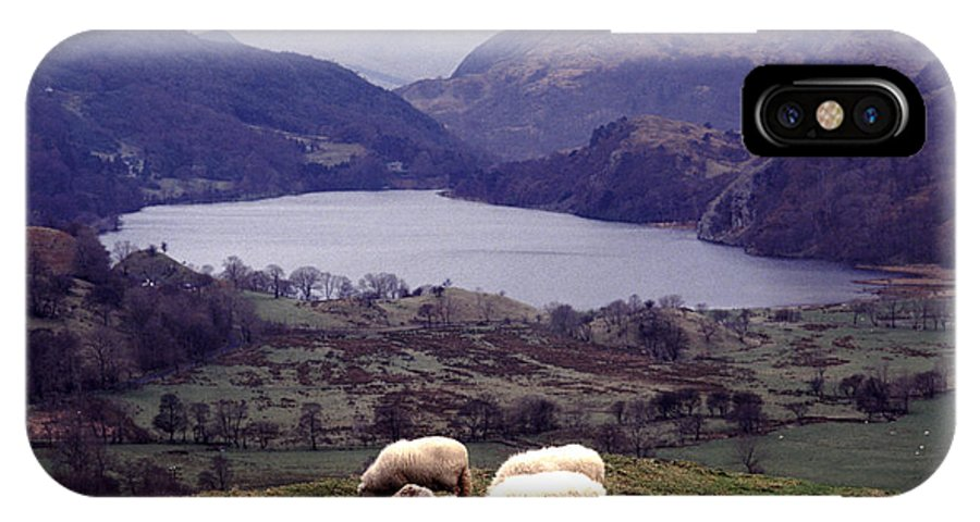Holidays IPhone X Case featuring the photograph Lake Gwynant Snowdonia Wales by Ros Drinkwater