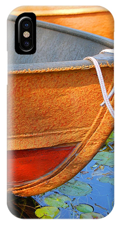 Water IPhone X Case featuring the photograph Lake Hopatcong Boat by Lucia Vicari