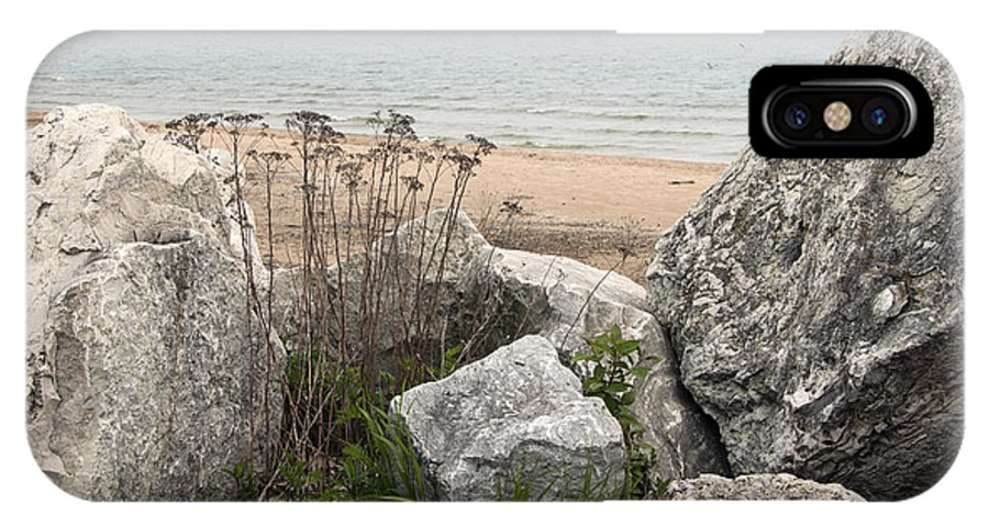 Shoreline IPhone X Case featuring the photograph Lake Michigan Shoreline by Jayne Gohr