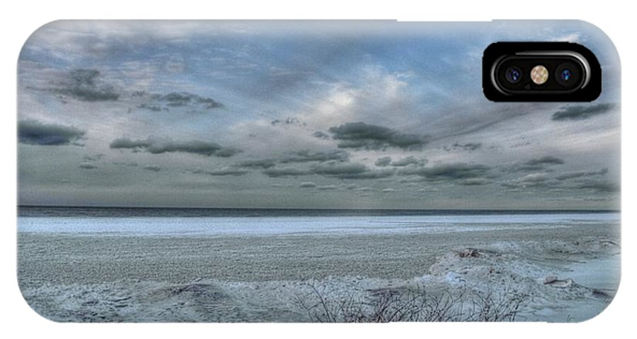 Lake IPhone X Case featuring the photograph Lake Ontario Snow by Heather Allen