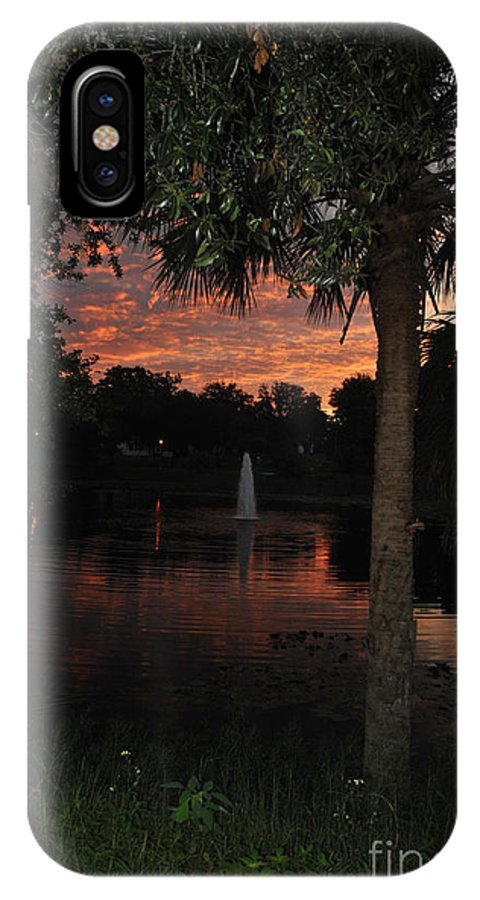 Lake IPhone X Case featuring the photograph Lake Play Florida by George D Gordon III