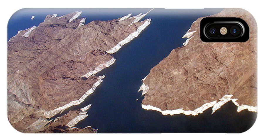 Aerial View IPhone X Case featuring the photograph Lake Mead From Above by Eva Kato
