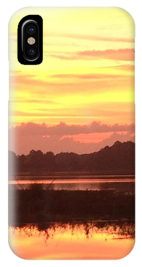 IPhone X Case featuring the photograph Lake Spivey Morning by Eric Hurwitz