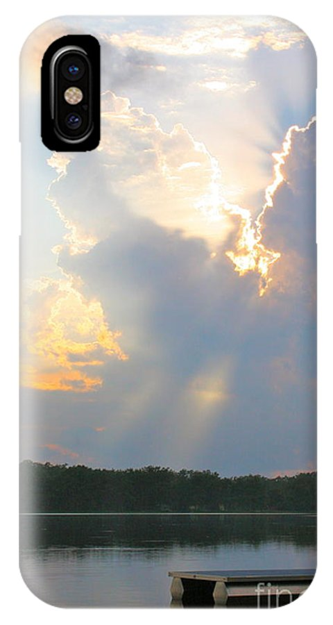 IPhone X Case featuring the photograph Lake Sunset by Debara Johnson