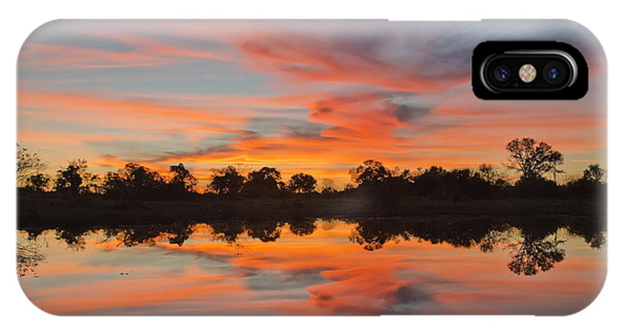 Art IPhone X Case featuring the photograph Lake Sunset by Gigi Ebert
