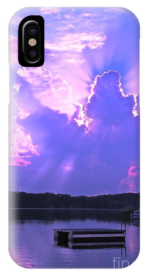 IPhone X Case featuring the photograph Lake Sunset II by Debara Johnson