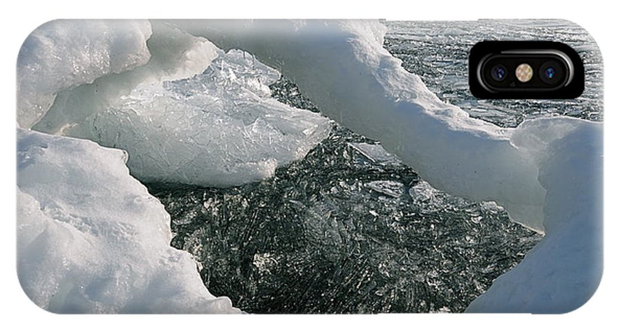 Lake Superior  Ice Shards  Ice Arch IPhone X Case featuring the photograph Lake Superior Ice Arch by Sandra Updyke