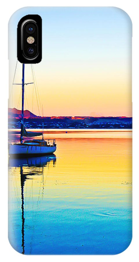 Lake Taupo IPhone X Case featuring the photograph Lake Taupo Sailboat by Catherine Snowden