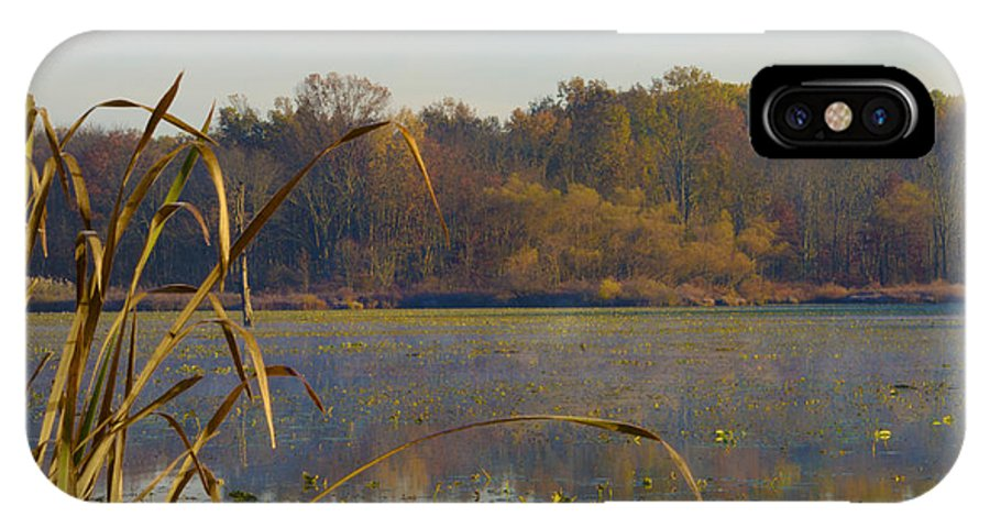 Lake IPhone X Case featuring the photograph Lake Towhee In Autumn by Bill Cannon