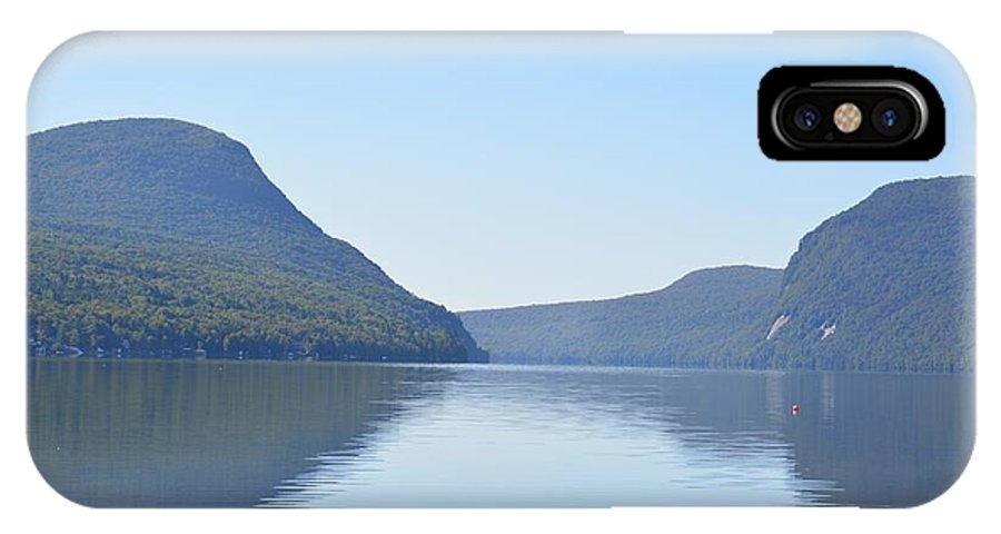 Lake Willoughby IPhone X Case featuring the photograph Lake Willoughby From North Shore by Angela Prandini