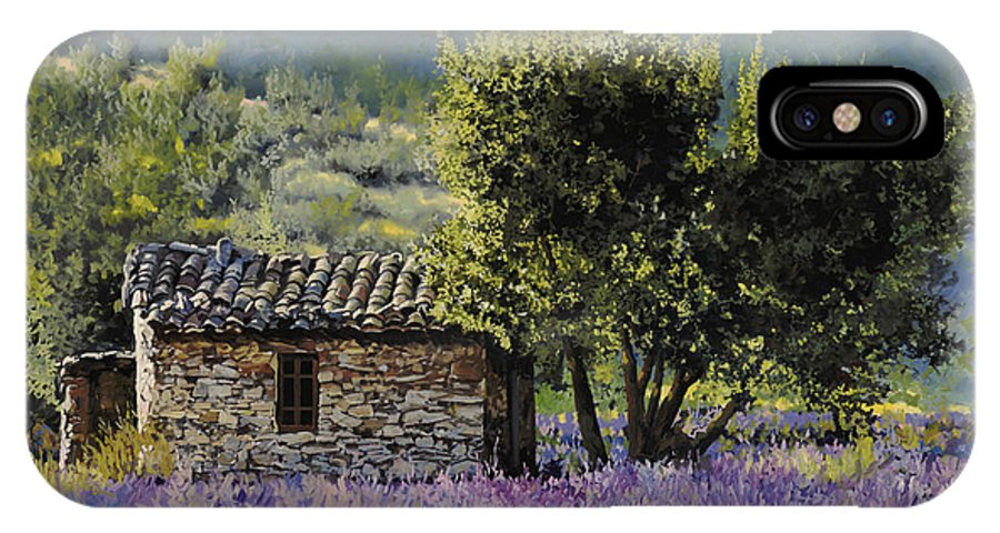Lavender IPhone X Case featuring the painting Lala Vanda by Guido Borelli