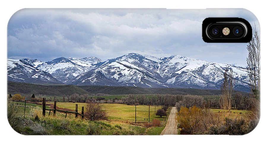 Lamoille IPhone X Case featuring the photograph Lamoille by Karen W Meyer
