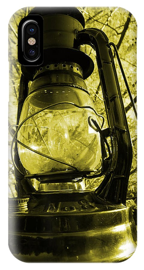 Lamp IPhone X Case featuring the photograph Lamp No.8 by Richard Reeve