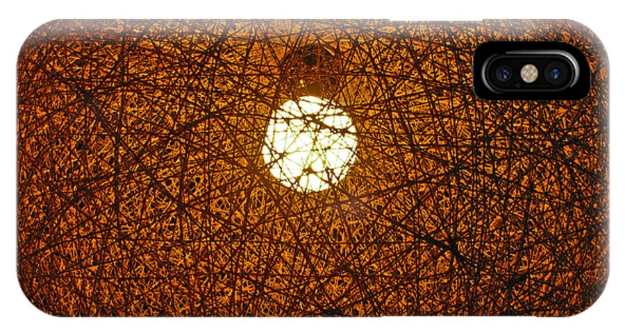 Lamp IPhone X Case featuring the photograph Lamp Tangle by Pete Marchetto