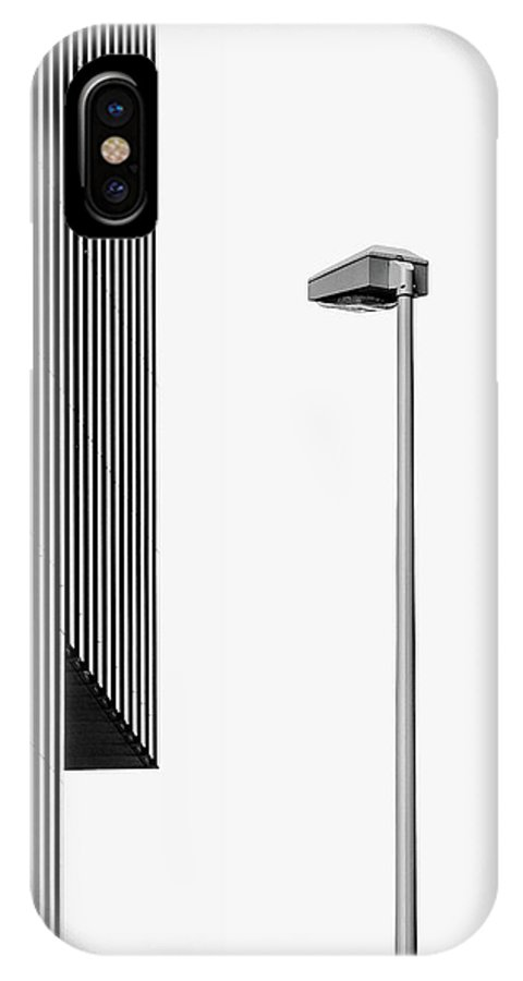Architecture IPhone X Case featuring the photograph Lampe Light by Rolf Endermann