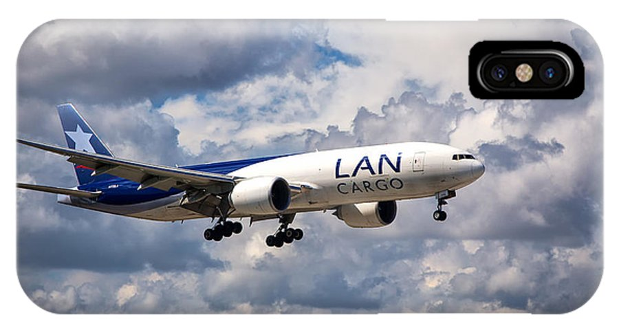 Lan Cargo IPhone X Case featuring the photograph Lan Cargo Boeing 777 by Rene Triay Photography