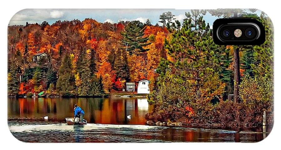 Wilderness IPhone X Case featuring the photograph Land Of Lakes by Steve Harrington