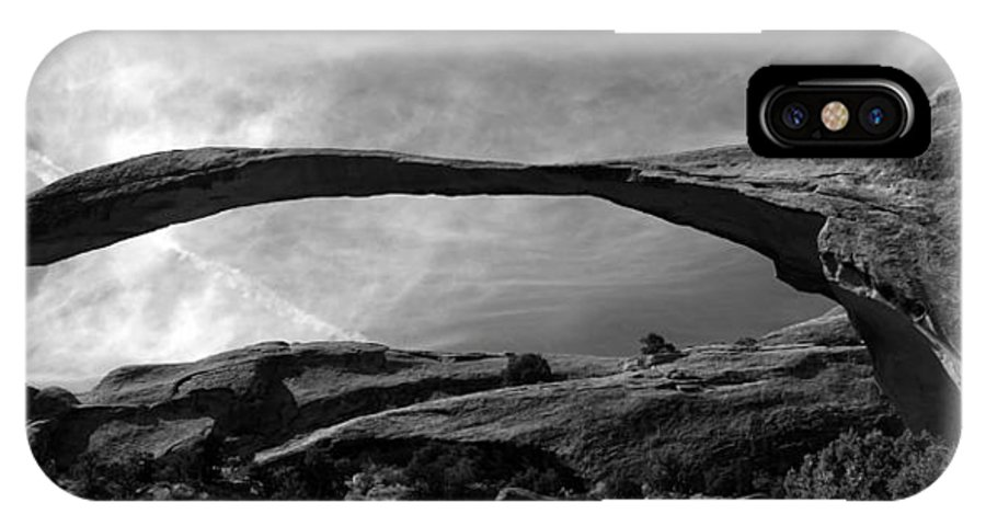 Landscape Arch Utah IPhone X Case featuring the photograph Landscape Arch Panoramic by David Lee Thompson