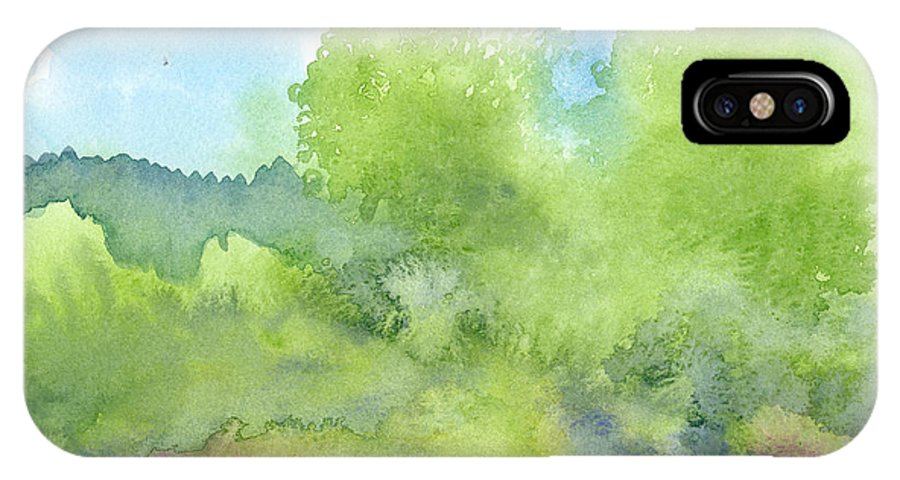 Landscape IPhone Case featuring the painting Landscape 1 by Christina Rahm Galanis