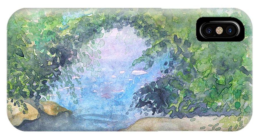 Landscape IPhone Case featuring the painting Landscape 2 by Christina Rahm Galanis