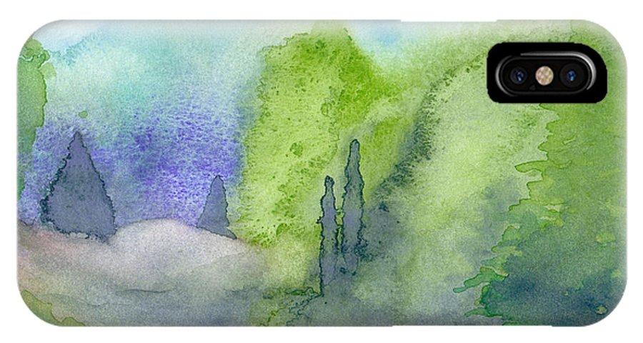 Landscape IPhone X Case featuring the painting Landscape 3 by Ingela Christina Rahm